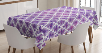 Retro Style Abstract Tablecloth