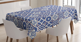Old Retro Artful Tiles Tablecloth