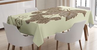 Retro Branch Leaves Tablecloth