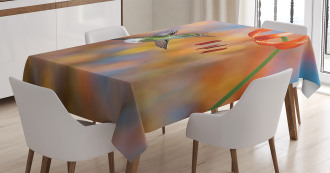 Racket Tail Lily Nectar Tablecloth