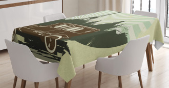 Retro Car Eiffel Tower Tablecloth