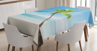 Palm Trees on Caribbean Tablecloth