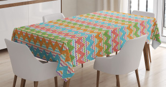 Bohemian Retro Zigzag Tablecloth