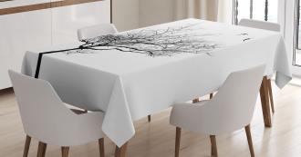 Tree Flying Birds Tablecloth