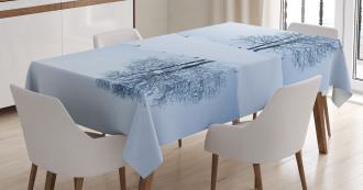 Lonely Tree in Winter Tablecloth