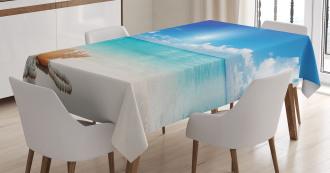 Seashells Tropical Beach Tablecloth