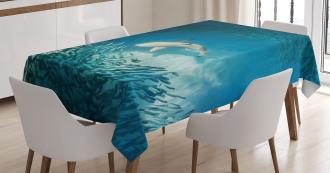 Animals Teal Wildlife Tablecloth