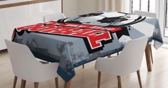 Grungy Football Pop Art Tablecloth