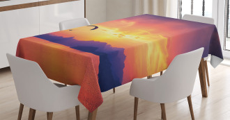 Paragliding at Sunset Tablecloth