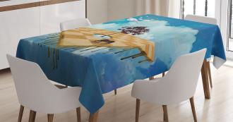 Surreal Landscape Tablecloth