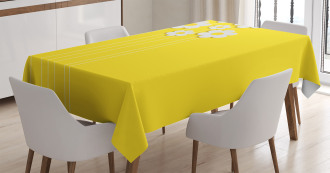 Cartoon Spring Flowers Tablecloth