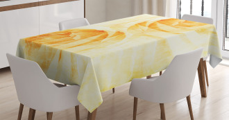 Watercolor Rose Flower Tablecloth