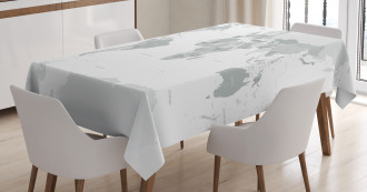 World Map Continent Earth Tablecloth