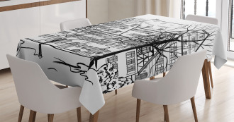 European Town Street Tablecloth