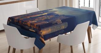 Hong Kong Cityscape Tablecloth