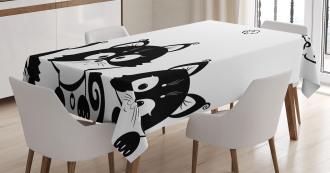 Three Cute Kittens Tablecloth