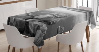 Rock in Lake Shore Tablecloth