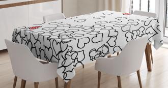 Wedding Heart Shape Tablecloth