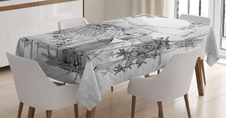 Valley Winery House Art Tablecloth