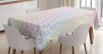 Stars in Rainbow Colors Tablecloth