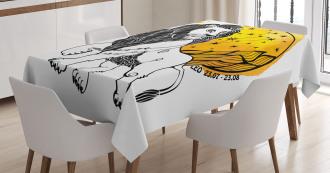 Zodiac Leo Symbol Art Tablecloth