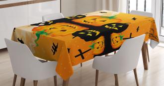 Scary Pumpkin Tablecloth
