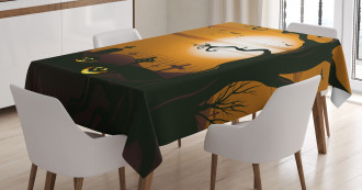 Scary Cemetery Tablecloth