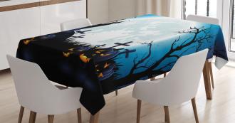 Moon Pumpkins Tablecloth