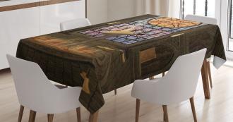 Pentagram Magic Candles Tablecloth