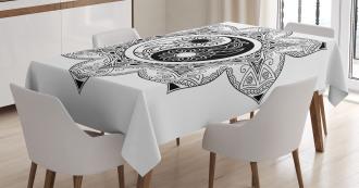 Boho Zen Mandala Sign Tablecloth