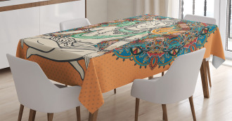 Asian Religion Bohemian Tablecloth