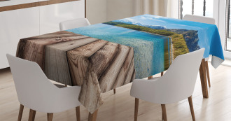 Lake Forest Mountain Tablecloth