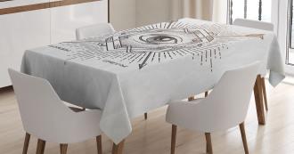 Mystic Third Eye Symbol Tablecloth