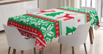 Holiday Season Deer Tablecloth