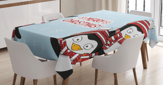 Cute Penguins Kids Tablecloth