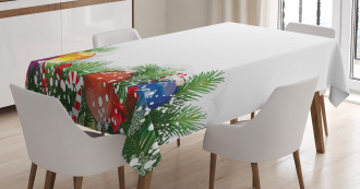 Xmas Tree Ornaments Tablecloth