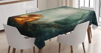 Pumpkin Enchanted Forest Tablecloth