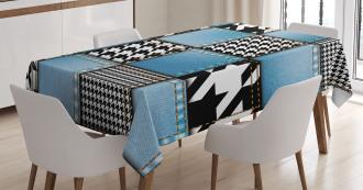 Denim Patchwork Tablecloth