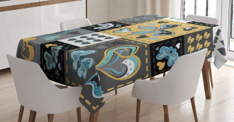 Butterfly Heart Retro Tablecloth