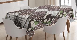 Vintage Flowers Bridal Tablecloth