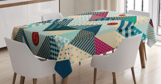 Vintage Patchwork Art Tablecloth