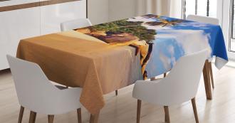 Serenity Nature Green Tablecloth