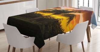 Exotic Tree at Sunset Tablecloth