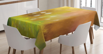 Oil Painting Effect Art Tablecloth