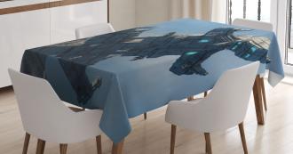 Cosmos Alien Ship Tablecloth