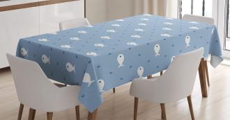 Little Fish Aquatic Life Tablecloth