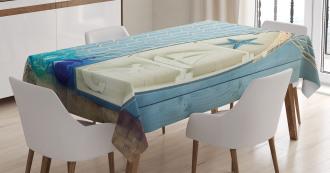 Marine Icons Starfish Tablecloth