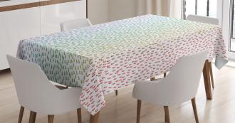 Rainbow Raindrops Tablecloth