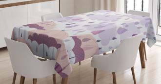 Pink Umbrellas Rain Tablecloth