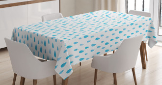 Watercolor Raindrops Tablecloth